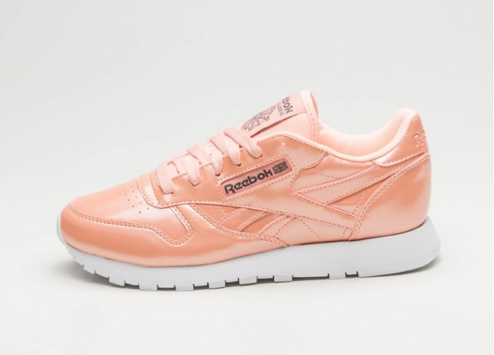 Мужские кроссовки Reebok Classic Leather PP *Patent Pearl Pack* (Peach Twist / White) | Интернет-магазин Sole