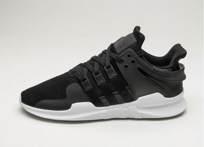 Мужские кроссовки adidas Equipment Support ADV (Core Black / Core Black / Ftwr White) | Интернет-магазин Sole
