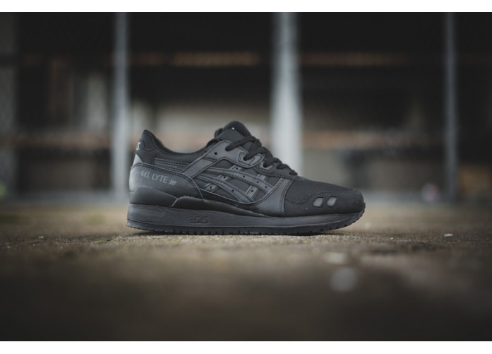 "Asics Gel Lyte III ""Triple Mix"" - Black/Black 